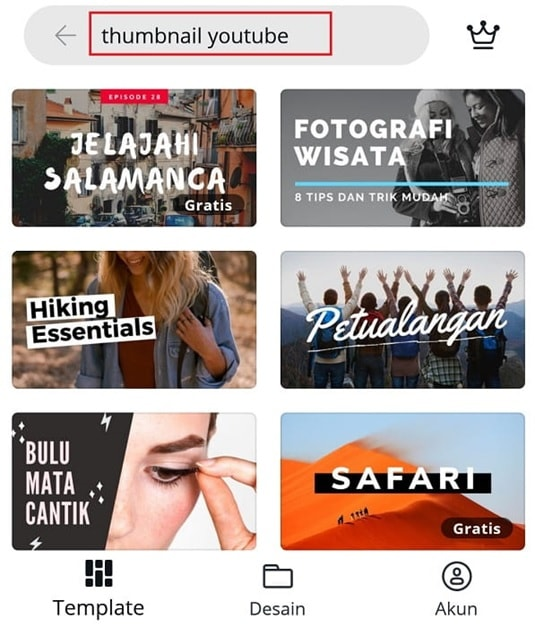 membuat thumbnail youtube di canva